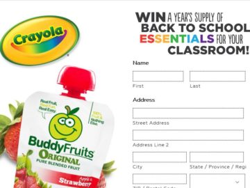 The Buddy Fruits 2016 Back to School Sweepstakes