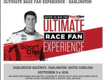 """The Sport Clips """"Ultimate Race Fan Experience – Darlington"""" Sweepstakes"""