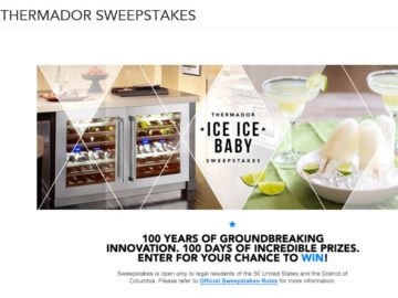 """The Thermador """"It's My Party and I Can Bling If I Want To – Ice, Ice Baby"""" Sweepstakes"""