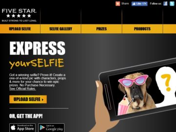 "The Five Star ""Express YourSELFIE"" Sweepstakes"