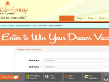 Visit Palm Springs Sweepstakes