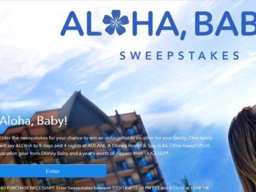 The Disney Aloha, Baby! Sweepstakes