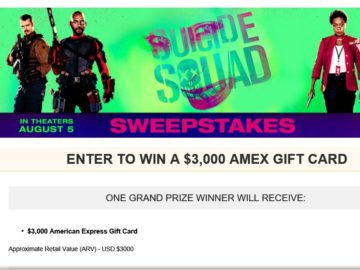 """MovieTickets.com's """"Suicide Squad"""" Sweepstakes"""