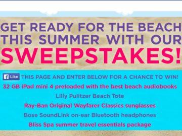 2016 Beach Listens Audiobook Sweepstakes