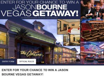 Cinemark Jason Bourne Vegas Getaway Sweepstakes
