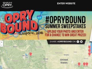 #OPRYBOUND Summer Sweepstakes
