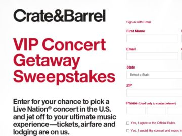 The Crate and Barrel Sweepstakes