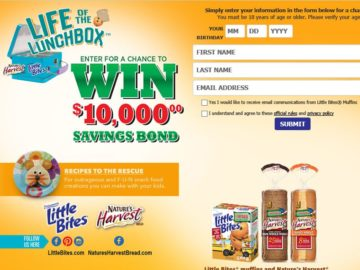 The Little Bites Snacks & Nature's Harvest Bread $10,000 Sweepstakes
