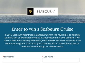 The Seabourn Cruise for Two Sweepstakes