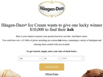 Häagen-Dazs brand Find Your Äah Instant Win Game & Sweepstakes