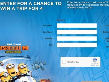 Sun-Maid's Vacation To Universal Studios Hollywood Sweepstakes