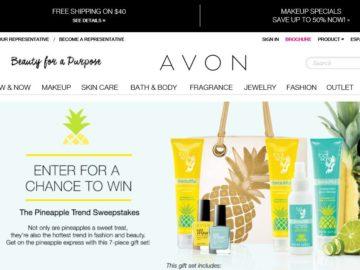 Avon Pineapple Trend Sweepstakes
