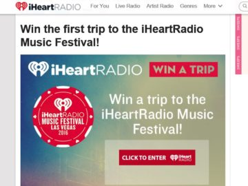 iHeartRadio Music Festival and Daytime Village at the iHeartRadio Music Festival! Sweepstakes