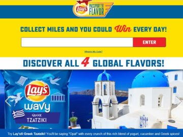 The Lay's Passport to Flavor Sweepstakes