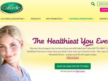 The Culturelle Healthiest You Ever Sweepstakes