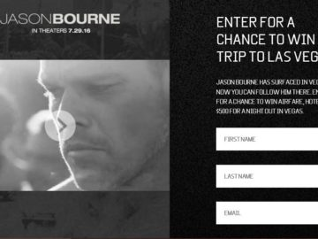 "The ""Jason Bourne"" Sweepstakes"