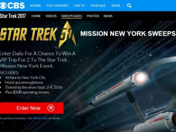The CBS Star Trek Mission New York Sweepstakes
