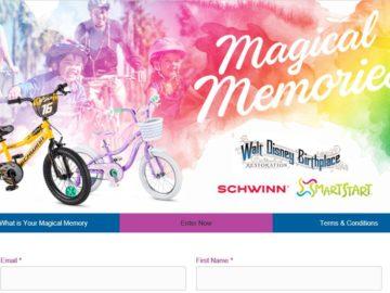 SCHWINN Magical Memories Giveaway Sweepstakes