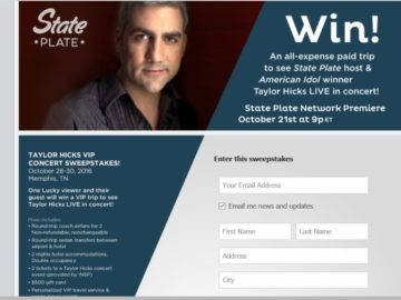 INSP's 'Taylor Hicks Concert' Sweepstakes