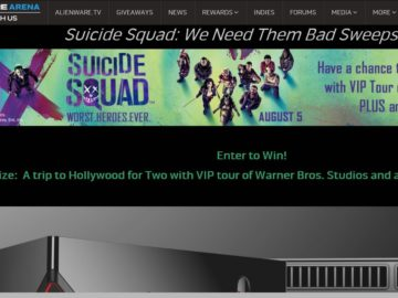 Alienware Arena Suicide Squad: We Need Them Bad Sweepstakes