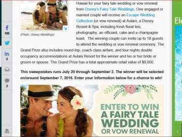 USA Today Gannett Hawaii Wedding Sweepstakes
