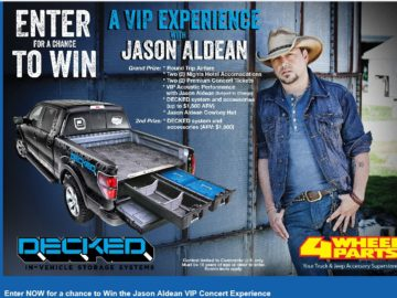 TERMS FOR THE 4 WHEEL PARTS / Decked / Jason Aldean Sweepstakes