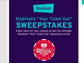 """iHeartRadio and StubHub """"Your Ticket Out"""" Sweepstakes"""