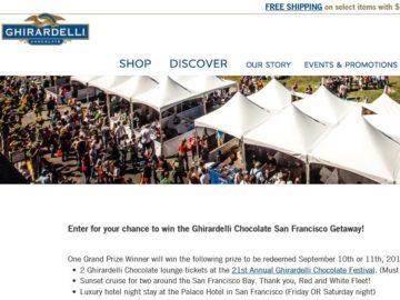 Ghirardelli Chocolate San Francisco Getaway Sweepstakes
