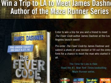 Random House James Dashner VIP Meet and Greet Sweepstakes