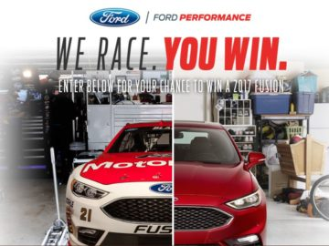 The Ford We Race, You Win Sweepstakes