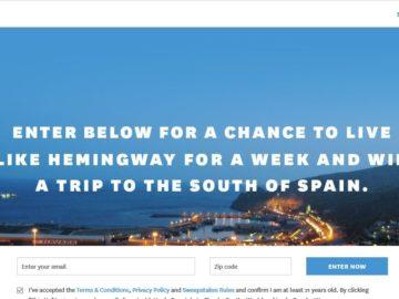 InsideHook Hemingway South of Spain Sweepstakes