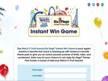 Welch's Fruit Snacks Instant Win Game