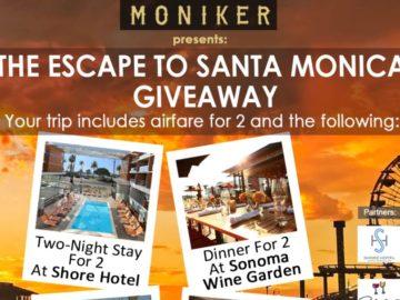 Moniker Wine Estates Santa Monica Giveaway Sweepstakes