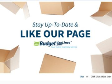The Budget Van Lines & UBoxes Think Outside The Box Sweepstakes