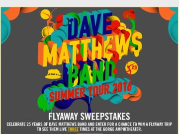 The Dave Matthews Band 25th Anniversary Sweepstakes