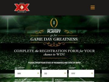 Dos Equis Go for Game Day Greatness Sweepstakes