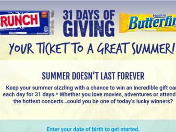 Nestle Crunch & Butterfinger 31 Days of Giving Sweepstakes