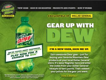 The Dew General Instant Win Game