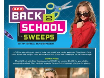 H-E-B Back to School Sweepstakes