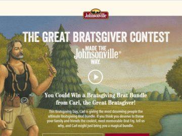 The Johnsonville Bratsgiving Contest