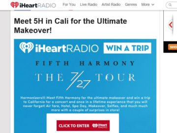 iHeartRadio Meet 5H in Cali for the Ultimate Makeover! Sweepstakes