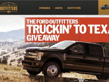 The Ford Outfitters Truckin' to Texas Giveaway Sweepstakes