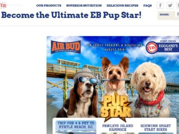 "The ""Become the Ultimate EB Pup Star"" Sweepstakes"