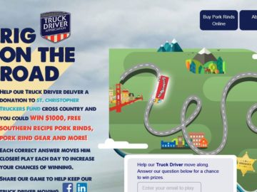 The Truck Driver Rig on the Road Sweepstakes