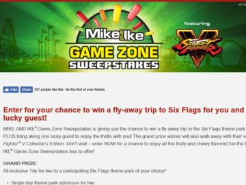 The MIKE AND IKE Game Zone Sweepstakes