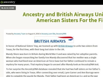 """The Ancestry """"Sisters Day"""" Sweepstakes"""