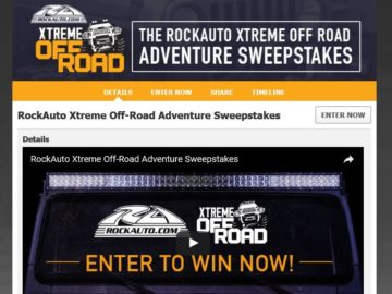 RockAuto Xtreme Off Road Adventure Sweepstakes