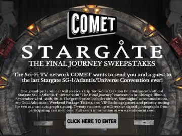 Comet TV/Stargate Convention Sweepstakes