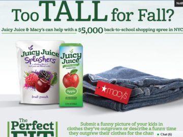 The Juicy Juice The Perfect Fit Sweepstakes