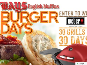 """The Bays English Muffins """"Burger Days"""" Sweepstakes"""